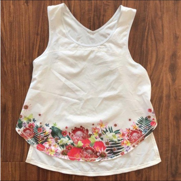 Lululemon tropical open sides tank